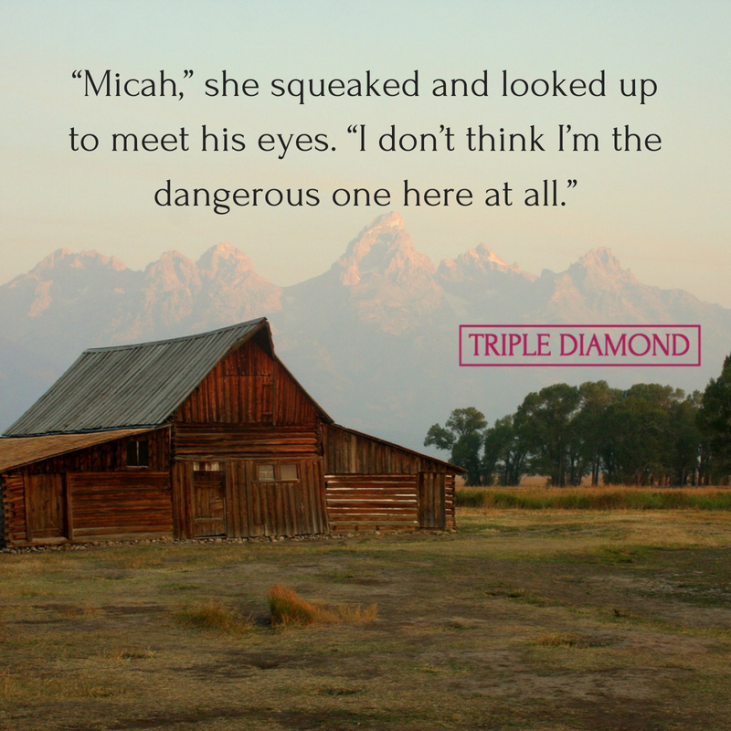 """Micah,"" she squeaked and looked up to meet his eyes. ""I don_t think I_m the dangerous one here at all."""
